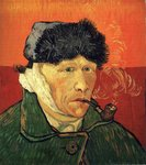 Self-Portrait with Bandaged Ear and Pipe Van Gogh reproduction