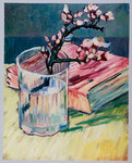 Blossoming Almond Branch Van Gogh reproduction