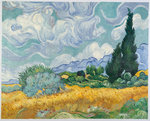 Wheat Field with Cypresses oil painting reproduction