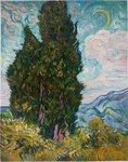 Cypresses Oil Painting Reproduction