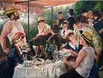 Luncheon of the Boating Party Renoir reproduction
