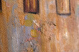 hand-painted Lake Garda Gustav Klimt reproduction detail