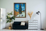 Road with Cypress and Star Van Gogh reproduction in interior