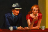 detail Nighthawks oil painting reproduction