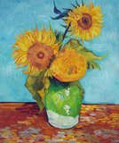 Three Sunflowers in a Vase Van Gogh reproduction
