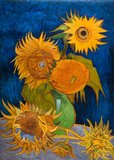 five sunflowers Van Gogh reproduction