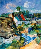 Houses in Auvers Van Gogh Reproduction