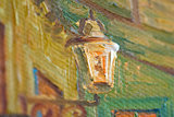 detail Framed small Cafe Terrace Van Gogh reproduction