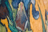 detail Vase with Irises against a Yellow Background Oil Painting Replica