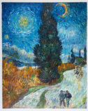 Road with Cypress and Star Van Gogh reproduction