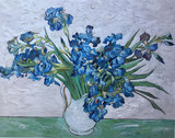 e: Vase with Irises Oil Painting Replica