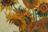 Vase with Fifteen Sunflowers Van Gogh reproduction detail