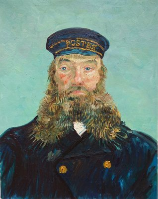 Portrait of the Postman Joseph Roulin Detroit Van Gogh Reproduction, hand-painted in oil on canvas