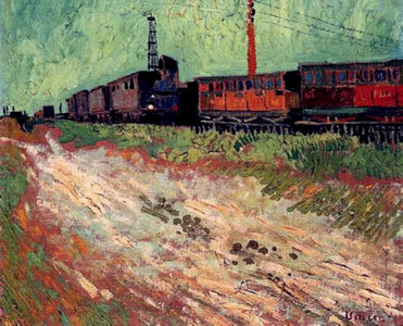 Railway Carriages Van Gogh Reproduction